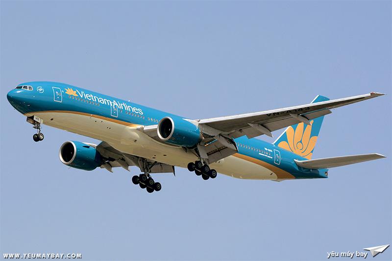 Máy bay Boeing 777-200ER của Vietnam Airlines. Ảnh: Long Ethan
