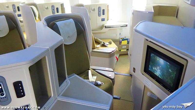 Bên trong máy bay Boeing 787-9 Dreamliner của Vietnam Airlines. Ảnh: TRAVIP