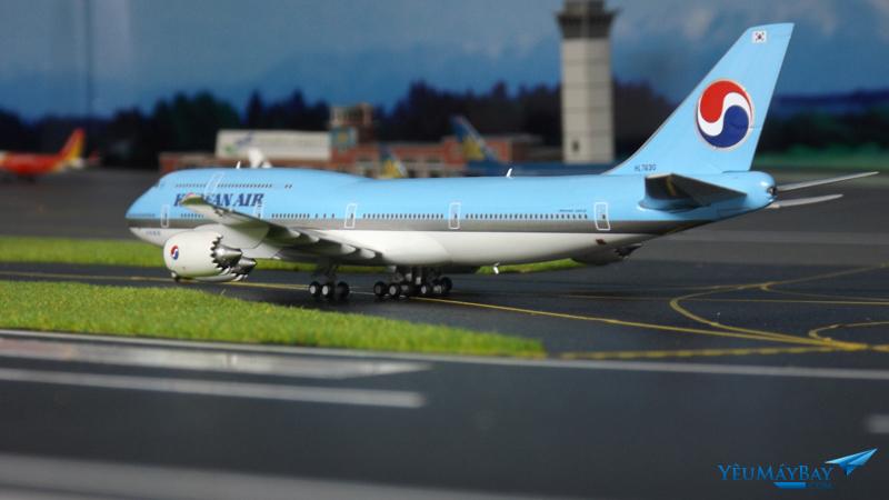 Mô hình Boeing 747-8i Korean Air tại sa bàn bằng Decal - Ảnh: Tuấn Đỗ