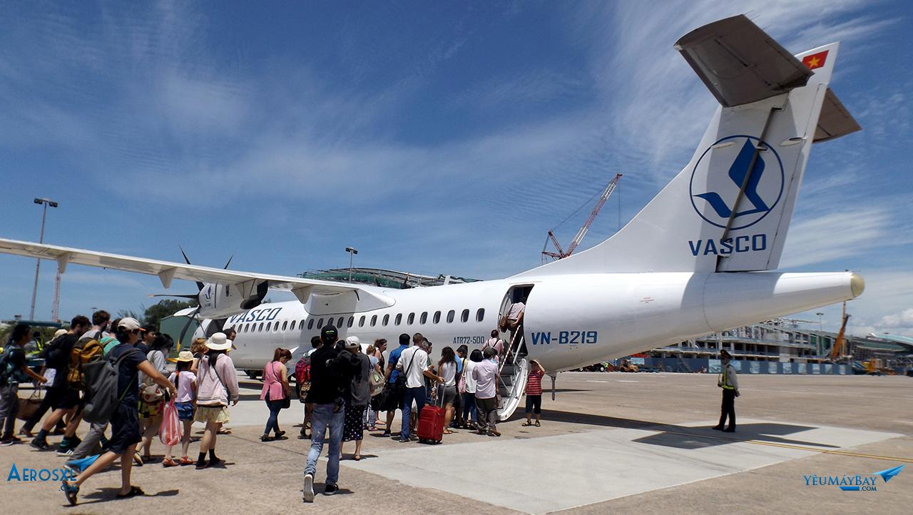 Tàu bay VN-B219 - Ảnh: Tuấn Đỗ