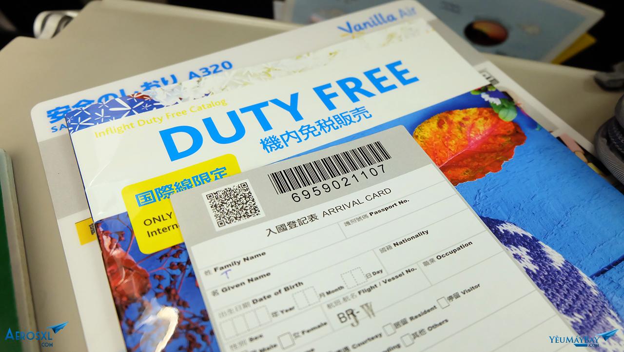 Tờ khai nhập cảnh Đài Loan do tiếp viên phát. Ảnh: Travip