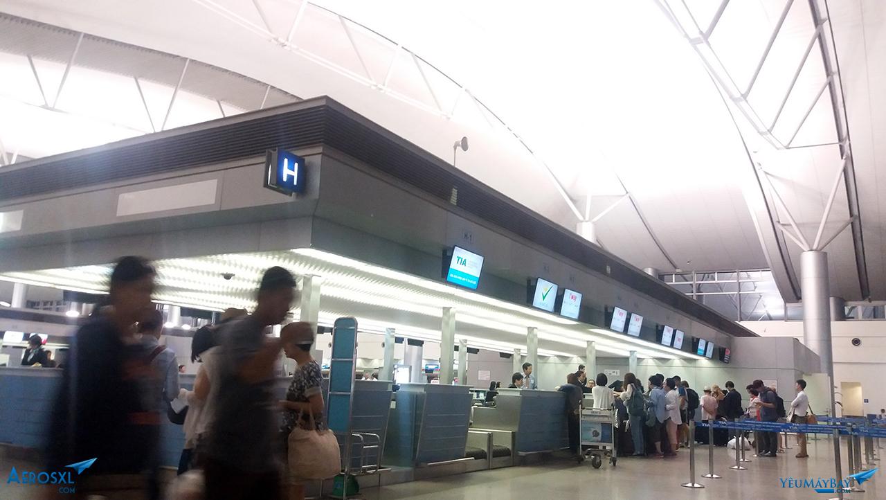 Đảo H, nơi làm thủ tục cho chuyến bay của Cebu Pacific tại SGN - ảnh: Tuấn Đỗ