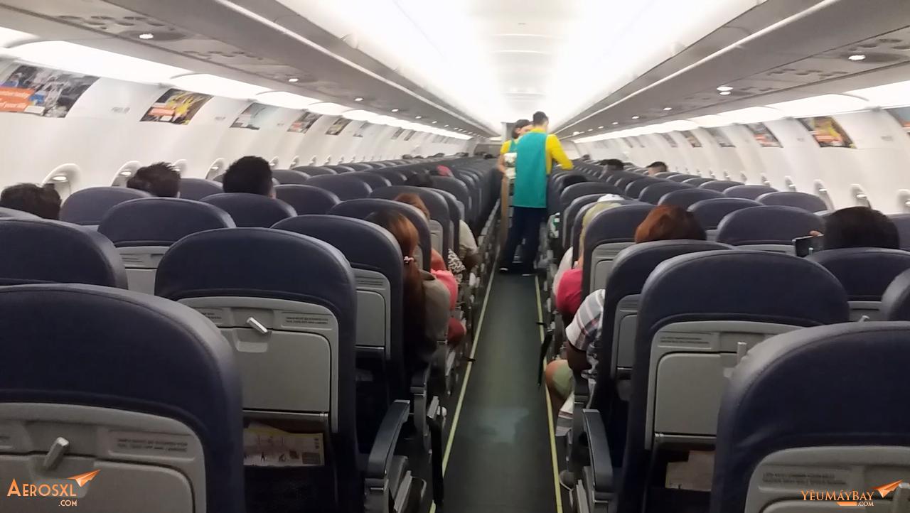 Cabin nhìn từ đuôi máy bay - Ảnh: Tuấn Đỗ