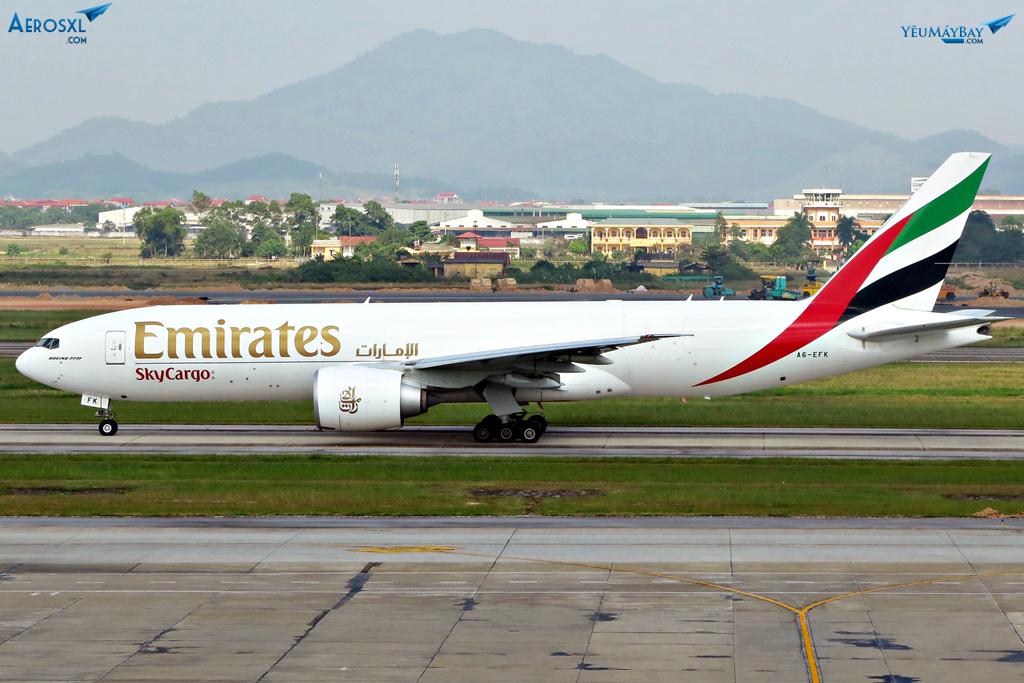 Tàu hàng Sky Cargo của Emirates. Ảnh: Dũng Nguyễn