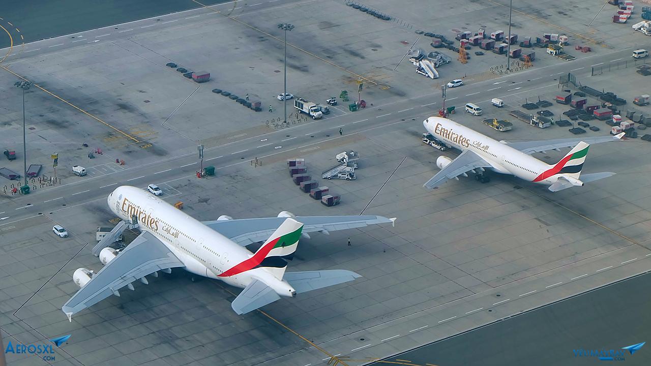 Bộ đôi Airbus, A380 và A330 - Ảnh: Travip