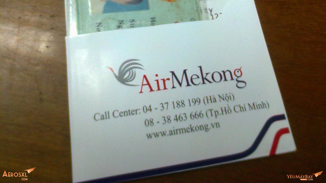 Thẻ lên tàu của Air Mekong. Ảnh: Travip