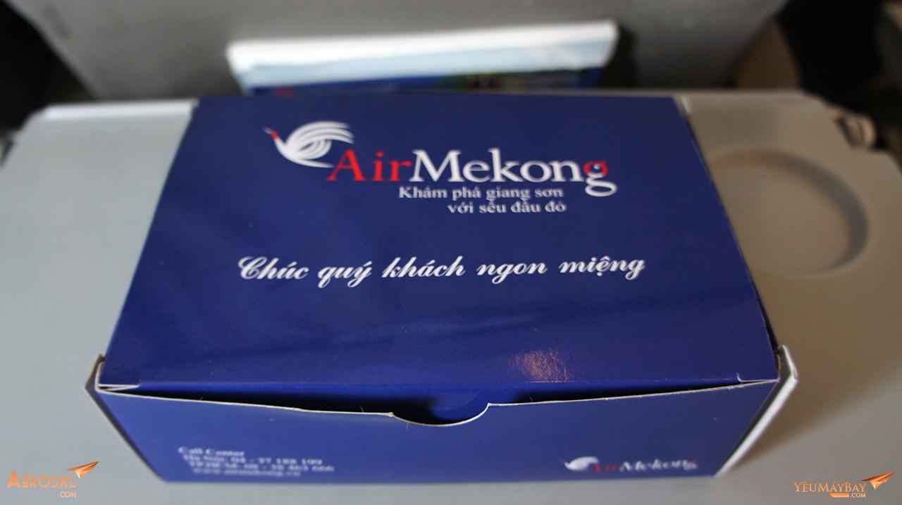 Hộp đồ ăn của Air Mekong trên chuyến bay từ SGN đi VCS. Ảnh: Travip