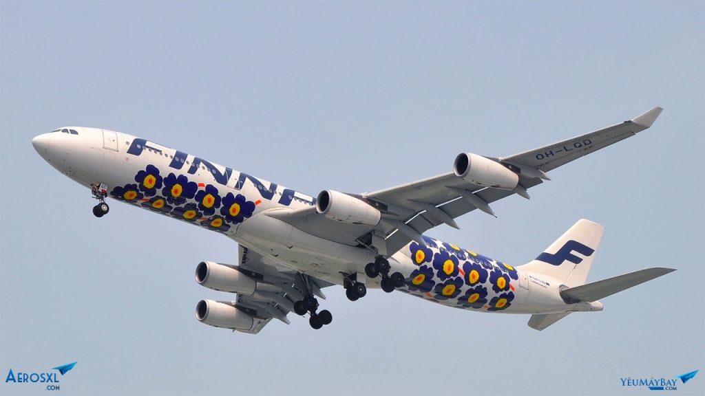 Airbus A340 của Finnair. Ảnh: Long Ethan.