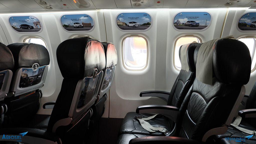 Bên trong khoang máy bay ATR-72 của Firefly. Ảnh: Travip